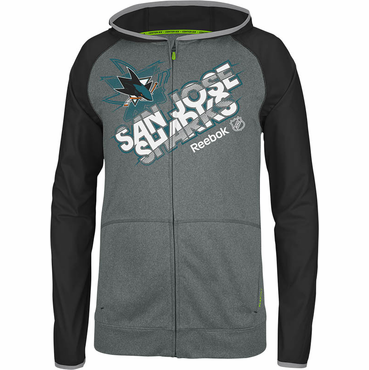 Reebok Center Ice TNT Senior Full Zip Hockey Hoody - San Jose Sharks