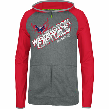 Reebok Center Ice TNT Senior Full Zip Hockey Hoody - Washington Capitals