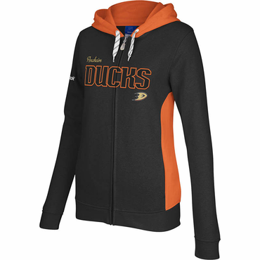 Reebok Core Womens Full Zip Hoodie - Anaheim Ducks