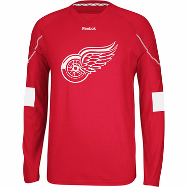 Reebok Face Off Senior Long Sleeve Hockey Shirt - Detroit Red Wings