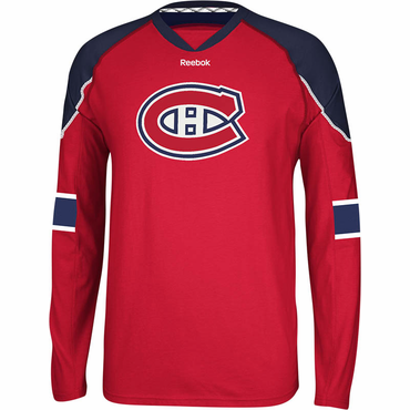 Reebok Face Off Senior Long Sleeve Hockey Shirt - Montreal Canadiens