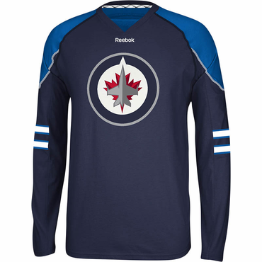 Reebok Face Off Senior Long Sleeve Hockey Shirt - Winnipeg Jets
