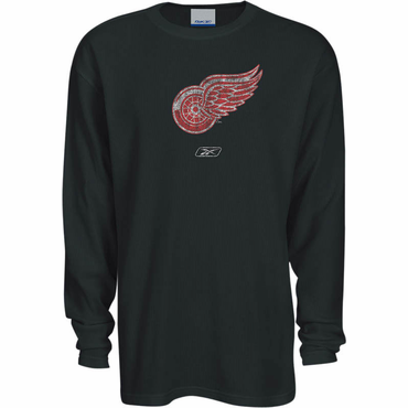 Reebok Faded Primary Logo Senior Long Sleeve Shirt - Detroit Red Wings