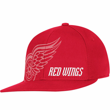Reebok Flat Visor Flex Fit Senior Hat - Detroit Red Wings