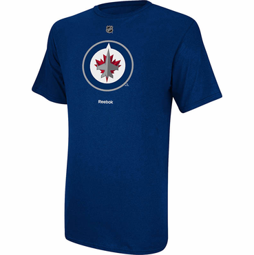 Reebok Primary Logo Senior Short Sleeve Shirt - Winnipeg Jets