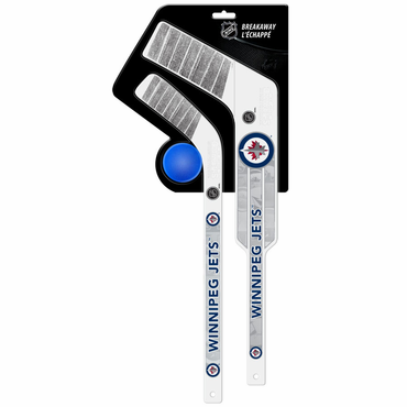 Sherwood Breakaway 3 Piece Goalie & Player Stick with Foam Ball - Winnipeg Jets