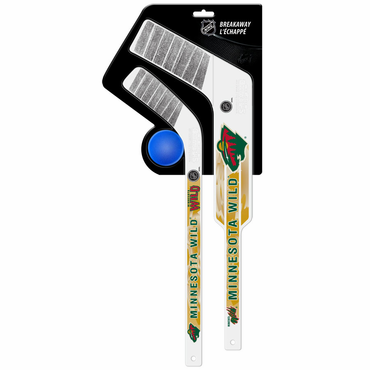 Sherwood Breakaway 3 Piece Mini Goalie & Player Stick with Foam Ball - Minnesota Wild