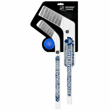 Sherwood Breakaway 3 Piece Mini Goalie & Player Stick with Foam Ball - Toronto Maple Leafs