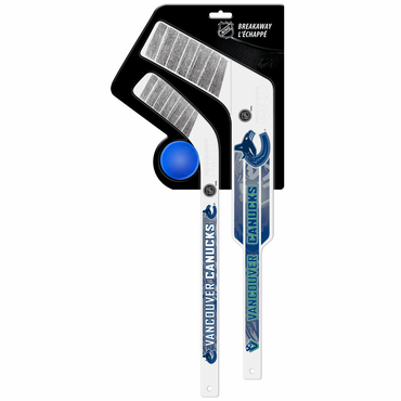 Sherwood Breakaway 3 Piece Mini Goalie & Player Stick with Foam Ball - Vancouver Canucks