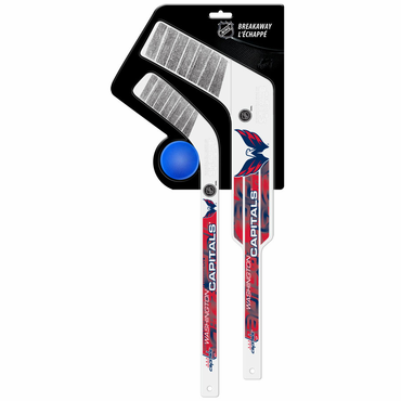 Sherwood Breakaway 3 Piece Mini Goalie & Player Stick with Foam Ball - Washington Capitals