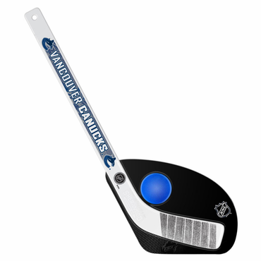 Sherwood Hat Trick 2 Piece Mini Player Stick with Foam Ball - Vancouver Canucks