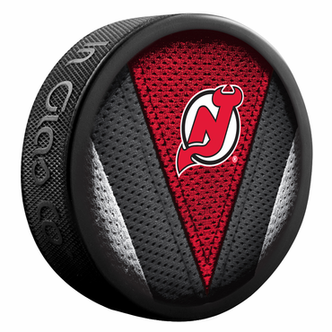 Sherwood NHL Stitch Souvenir Puck - New Jersey Devils