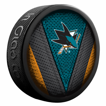 Sherwood NHL Stitch Souvenir Puck - San Jose Sharks