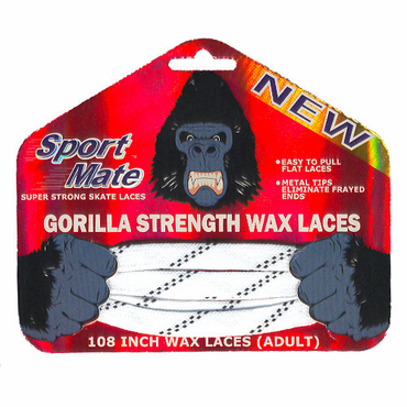 SkateMate Gorilla Waxed Hockey Skate Laces
