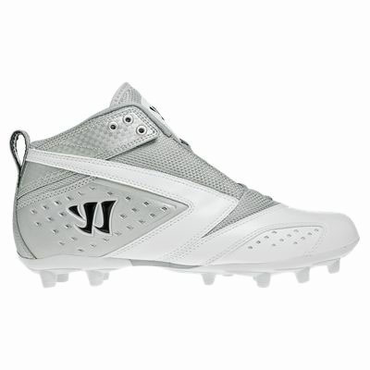 Warrior 2nd Degree Speed Lacrosse Cleats - White - Adult