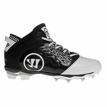 Warrior Adonis Black Lacrosse Cleats - Black - Adult