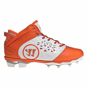 Warrior Adonis Adult Lacrosse Cleats - Orange