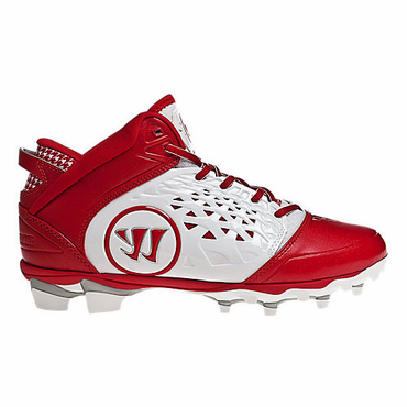 Warrior Adonis Adult Lacrosse Cleats - Red