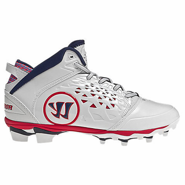Warrior Adonis USA Senior Rabil Lacrosse Cleats - Red/White/Navy