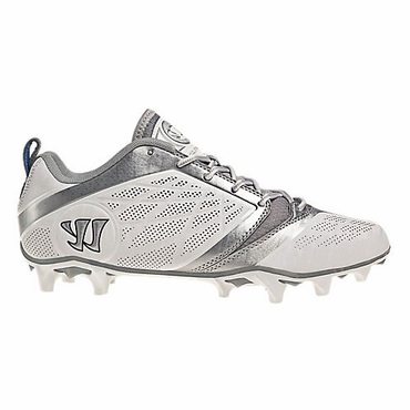 Warrior Burn 6.0 Low Senior Lacrosse Cleats - White