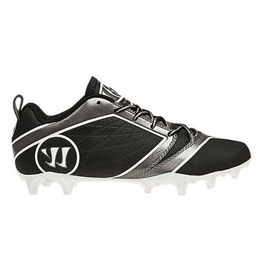 Warrior Burn 6.0 Mid Black/Black Senior Lacrosse Cleats