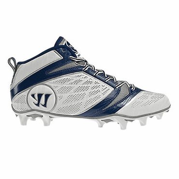 Warrior Burn 6.0 Mid Senior Lacrosse Cleats - Navy