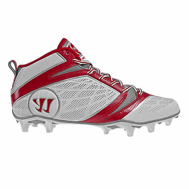 Warrior Burn 6.0 Mid Red Senior Lacrosse Cleats