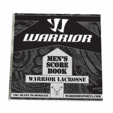 Warrior Lacrosse Score Book - Men