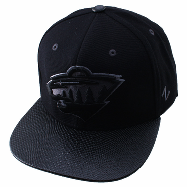 Zephyr Black Rattler Adjustable Hockey Hat - Minnesota Wild