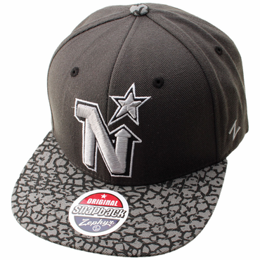 Zephyr Concrete Snapback Hockey Hat - Minnesota North Stars