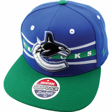 Zephyr Front Runner 32/5 Adjustable Hockey Hat - Vancouver Canucks