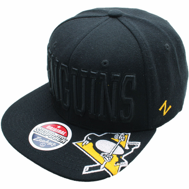 Zephyr Gotham 32/5 Snapback Hockey Hat - Pittsburgh Penguins