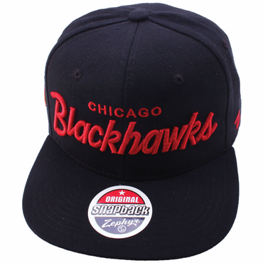 Zephyr Headliner 32/5 Snapback Hockey Hat - Chicago Blackhawks