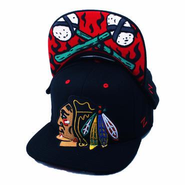 Zephyr Menace Fitted Hockey Hat - Chicago Blackhawks