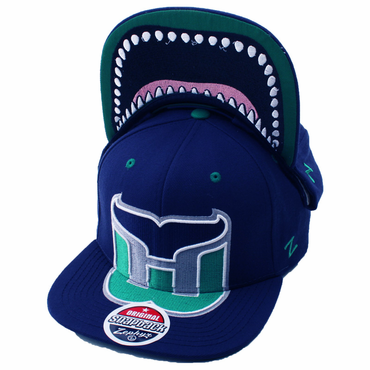 Zephyr Menace Snapback Hockey Hat - Hartford Whalers