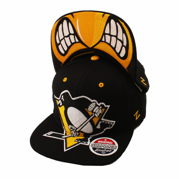 Zephyr Menace Snapback Hockey Hat - Pittsburgh Penguins