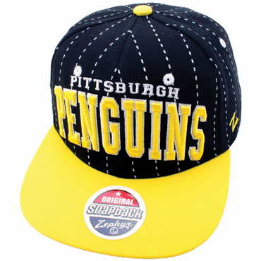 Zephyr Super Star Snapback Hockey Hat - Pittsburgh Penguins