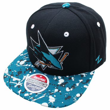 Zephyr Splatter 32/5 Adjustable Hockey Hat - San Jose Sharks