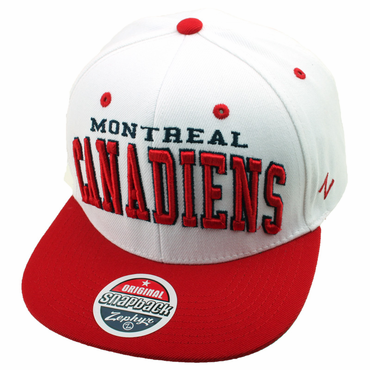 Zephyr Super Star Snapback Hockey Hat - Montreal Canadiens