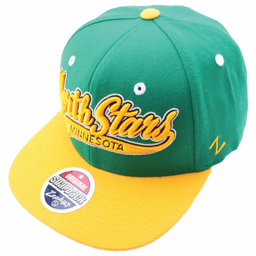 Zephyr Swoop Snapback Hockey Hat - Minnesota North Stars
