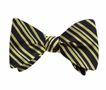 LIVESTRONG Silk Bow Tie - Black/Yellow