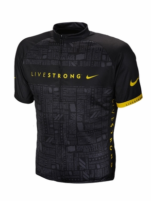 Men's LIVESTRONG Cycling Jersey - Black