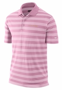 Men�s LIVESTRONG Dri-FIT Striped Polo Shirt - Pink/White