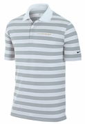 Men�s LIVESTRONG Dri-FIT Striped Polo Shirt - White