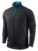 Men's LIVESTRONG Element 1/2 Zip - Black Heather