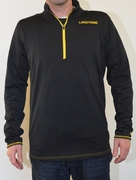 Men's LIVESTRONG Grid Half-Zip Top - Black