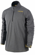 Men's LIVESTRONG Grid Half-Zip Top - Charcoal Grey