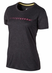 Women's LIVESTRONG Dri-FIT Legend Tee - Black Heather with Pink