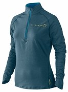 Women's LIVESTRONG Element Half-Zip - Blue Heather