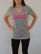 Women's LIVESTRONG  Invincible Dri-Blend V-Neck - Heather Grey